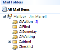 How to use Outlook macros to move email from inbox to