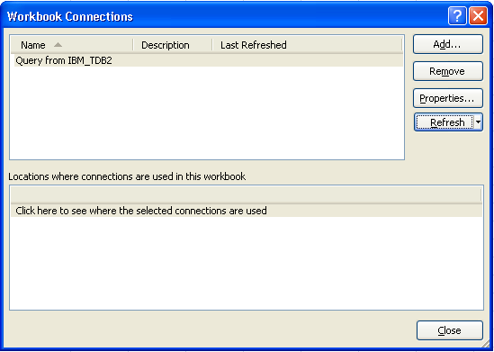 Excel Workbook Connections