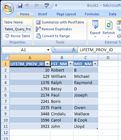 Excel results1