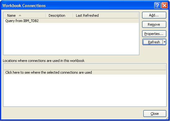 Excel Workbook Connections