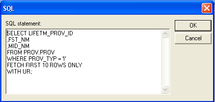 Microsoft Query SQL editor